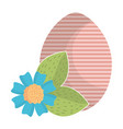 egg painted happy easter with flowers vector image vector image