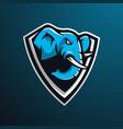 elephant gaming logo vector image vector image