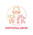 emotional abuse red gradient concept icon