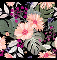 floral seamless pattern garden flower bouquet vector image vector image