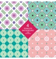 Four seamless pattern with rhombus vector image