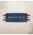 Fourth of July national Emblem vector image