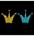 Gold Crown Isolated On black Background vector image vector image
