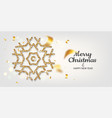 golden snowflakes shimmer on light background vector image vector image