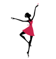 graceful dancer with a butterfly vector image
