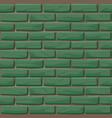 green brick wall texture seamless vector image vector image