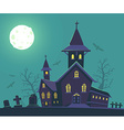 halloween of haunted house cemetery bats vector image vector image