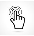 hand click or pointer icon vector image vector image