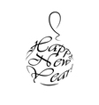 happy new year logo christmas ball vector image vector image