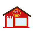 hot dog restaurant cartoon isolated over white vector image