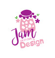 jam original logo design emblem for confectionery vector image vector image