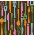 Kitchen utensils - seamless pattern vector image vector image