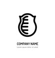 logo shield outline icon isolated on white vector image vector image