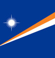 marshall island flag official republic symbol icon vector image