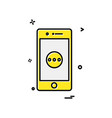 mobile icon design vector image