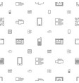 mobile icons pattern seamless white background vector image vector image