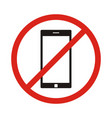 no phone sign no talking by phone sign red vector image vector image
