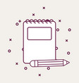 notepad and icon vector image vector image