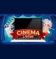 online cinema poster modern laptop concept vector image vector image