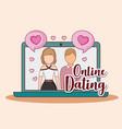 online dating design vector image vector image