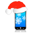 Phone Christmas Gift vector image vector image