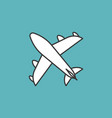 plane icon thin line vector image vector image