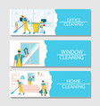 professional cleaning services banner vector image