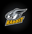 rabbit head from side can be used for club vector image vector image