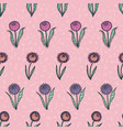 retro 60s floral repeat pattern great vector image vector image