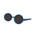 round sunglasses accessory female style vector image vector image