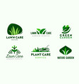 Set logo garden and lawn care service