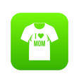 shirt with print icon digital green vector image vector image