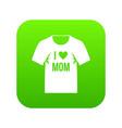Shirt with print icon digital green