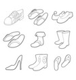 shoes icon set outline style vector image vector image