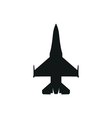 simple black fighter icon on white background vector image vector image