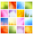spring landscape blurred backgrounds vector image