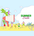 summer sale announcement concept people vacation vector image vector image
