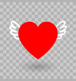 the red heart icon design with wings vector image