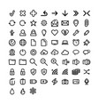 thin lines web icons set for web and mobile vector image