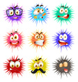 Thorny ball with faces vector image