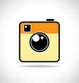 Trendy camera icon vector image vector image