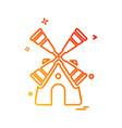turbine icon design vector image