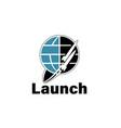 two rockets vector image vector image