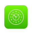 watch icon digital green vector image vector image