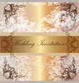 wedding invitation card in pastel and golden tape vector image