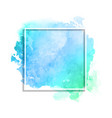 white frame on watercolour texture vector image vector image