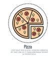 line pizza design vector image