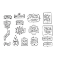 Collection of hand drawn lettering badges and vector image
