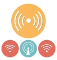 Wi-Fi Icons set of flat design vector image