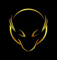 abstract fox lines gold line art symbol emblem vector image